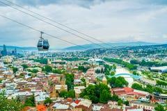 Фуникулер над Тбилиси Стоковое Фото