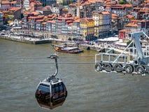 Фуникулер Gaia в Порту, Португалии Стоковые Фото
