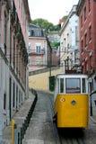 Фуникулярный в Лиссабоне Стоковое Изображение RF