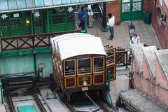 Фуникулярный поезд трамвая, Будапешт, Венгрия Стоковые Фото
