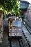 Фуникулярный поезд трамвая идя к замку Buda Стоковая Фотография