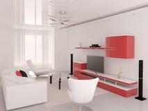 Функциональная современная живущая комната Стоковые Изображения RF