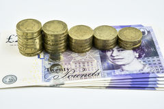 Фунты великобританского Sterling Стоковые Фотографии RF