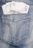 фунты джинсыов вальмы карманные Стоковые Фото