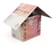 Фунты дома денег Стоковое Изображение