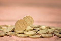 фунт английской языка монетки Стоковая Фотография RF