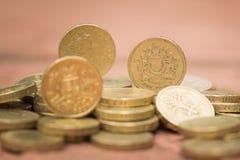 фунт английской языка монетки Стоковое фото RF
