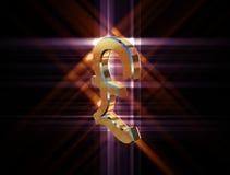 Фунт валюты символа иллюстрация штока