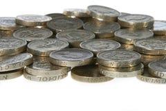 фунт Великобритания монеток стоковое фото rf