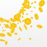 фунт великобританских монеток падая бесплатная иллюстрация