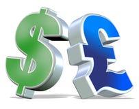 фунт доллара иллюстрация вектора