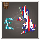 Фунт денег дела тратящ пунктирные линии Великобритании Стоковая Фотография