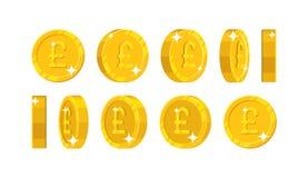 Фунт золота осматривает стиль шаржа бесплатная иллюстрация