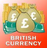 Фунт кладет иллюстрацию в мешки валюты 3d выставок великобританскую иллюстрация штока