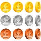 фунт монеток бесплатная иллюстрация