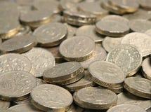 фунт монеток Стоковые Фотографии RF
