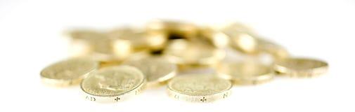 фунт монеток Стоковое Изображение RF