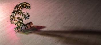 Фунт стерлингов ломая врозь иллюстрация штока