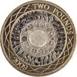 фунт 2 монетки Стоковое Изображение RF