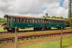 Фура поезда Wailua острова Гаваи стоковые фото