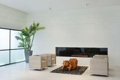 фура софы комнаты углового обеда нутряная живущая Стоковое Изображение