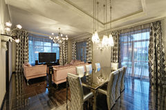 фура софы комнаты углового обеда нутряная живущая Стоковые Изображения RF