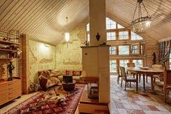 фура софы комнаты углового обеда нутряная живущая Стоковая Фотография RF