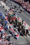 Фура Budweiser нарисованная лошадью стоковая фотография