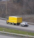 фургон автомобиля moving Стоковые Фотографии RF