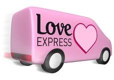 фургон влюбленности поставки курьерский иллюстрация штока