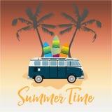 Фургон летнего времени ретро Стоковые Фотографии RF