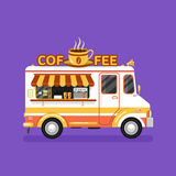 Фургон кофе Стоковое фото RF