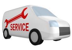 фургон обслуживания поставки иллюстрация штока