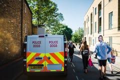 Фургон полицейских собак на улице Виндзора Стоковые Фотографии RF