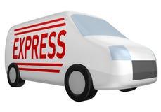 фургон поставки курьерский иллюстрация штока