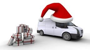 фургон поставки рождества Стоковые Фотографии RF