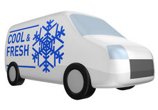 фургон холодной поставки свежий иллюстрация вектора