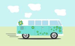 Фургон hippie вектора Стоковые Изображения