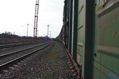 Фуры ждут на депо Стоковые Изображения RF