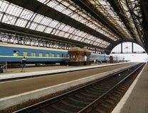 Фуры на железнодорожной платформе стоковое фото rf