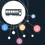 Фуры пассажира Натренируйте значок с предпосылкой к пункту и infographic стилю иллюстрация вектора