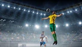 Футболист на стадионе Мультимедиа Стоковые Изображения
