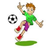 Футболист шаржа иллюстрации запаса иллюстрация штока