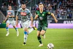 Футболист Yannick Gerhardt в действии стоковое фото