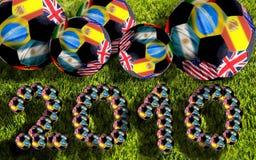 футболы 2010 шариков Африки южные стоковое фото