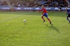 футбольная игра действия стоковое фото