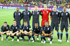 Футбольная команда соотечественника Англии Стоковые Фотографии RF