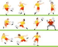 футбольная команда Стоковые Фотографии RF