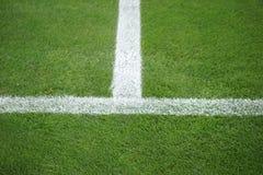 Футбольное поле боковой линии Стоковое фото RF