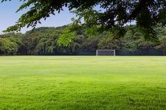 Футбольное поле в сельских районах Стоковое фото RF